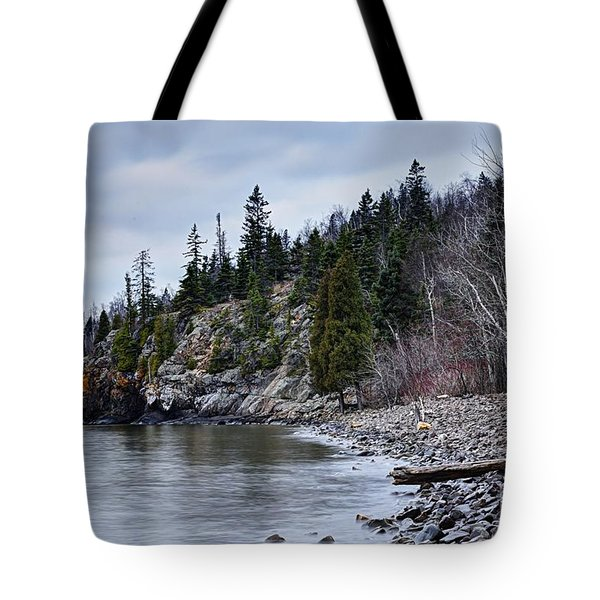 Tote Bag featuring the photograph Superior Cliffs by Larry Ricker