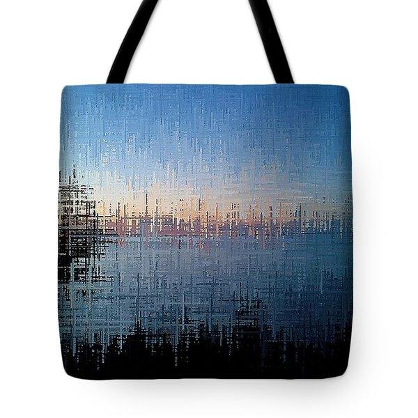 Tote Bag featuring the digital art Superior Dawn by David Manlove