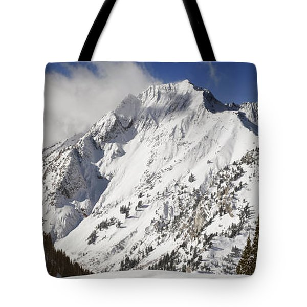 Superior Peak Wasatch Mountains Utah Panorama Tote Bag