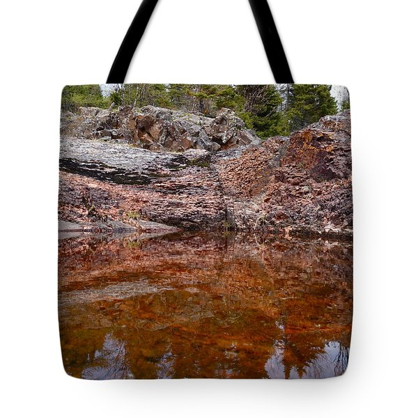 Tote Bag featuring the photograph Superior Rock Reflections #3 by Sandra Updyke
