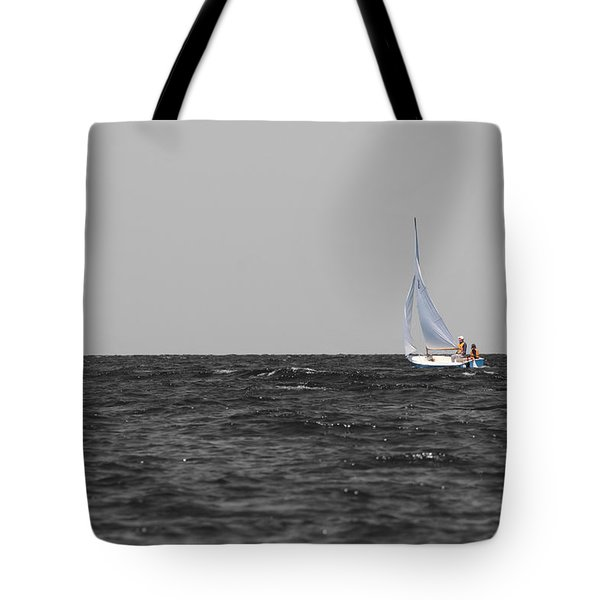 Tote Bag featuring the photograph Superior Sailing by Dylan Punke