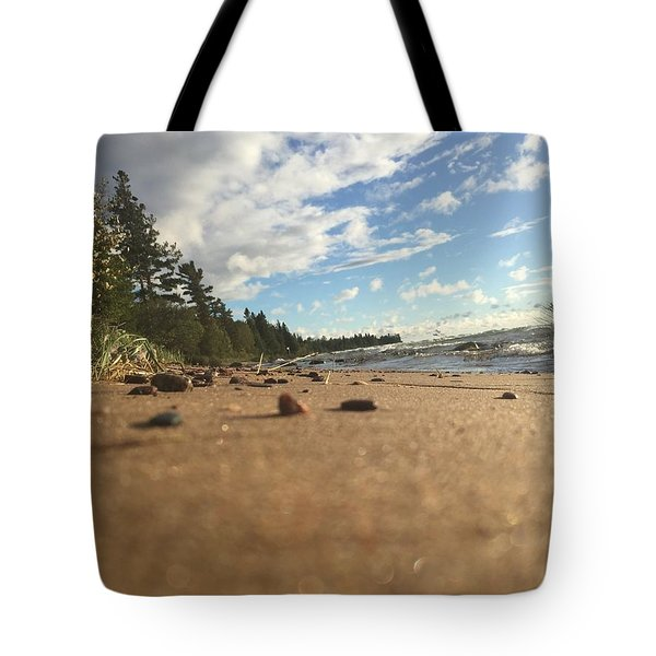 Tote Bag featuring the photograph Superior Shore by Paula Brown