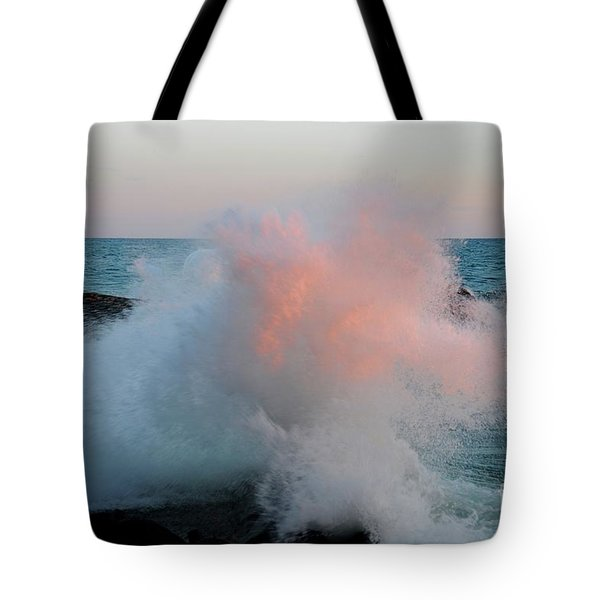 Superior Sundown Splash Tote Bag by Sandra Updyke