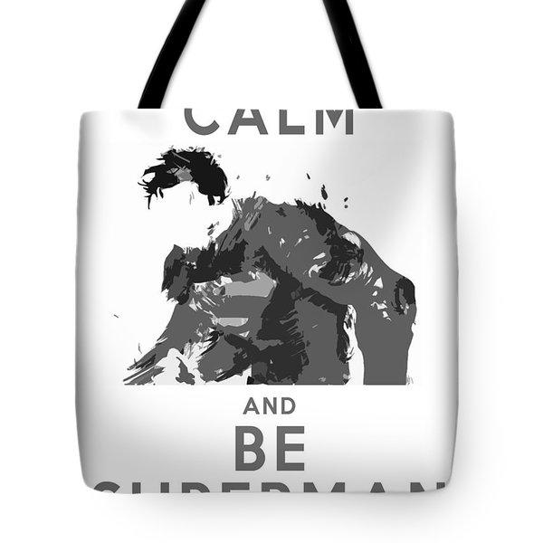Superman Keep Calm Tote Bag