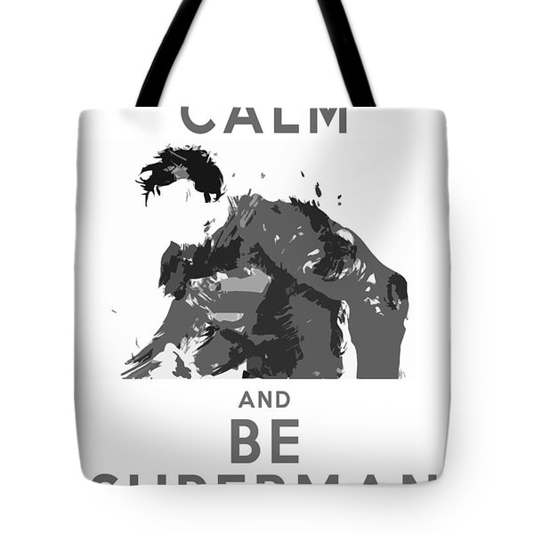 Superman Keep Calm Tote Bag