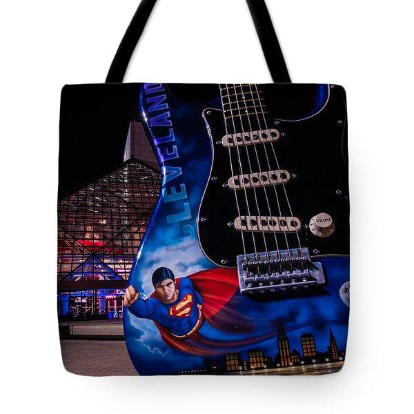 Superman Rocks Tote Bag