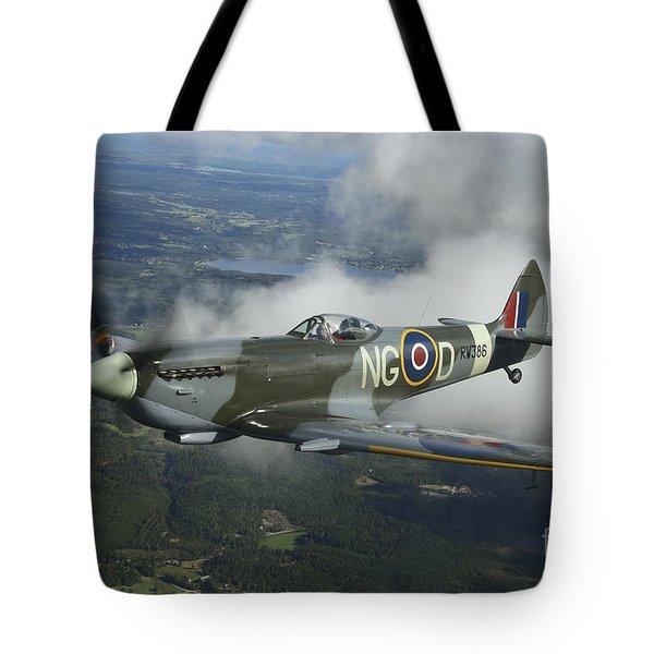 Supermarine Spitfire Mk.xvi Fighter Tote Bag by Daniel Karlsson