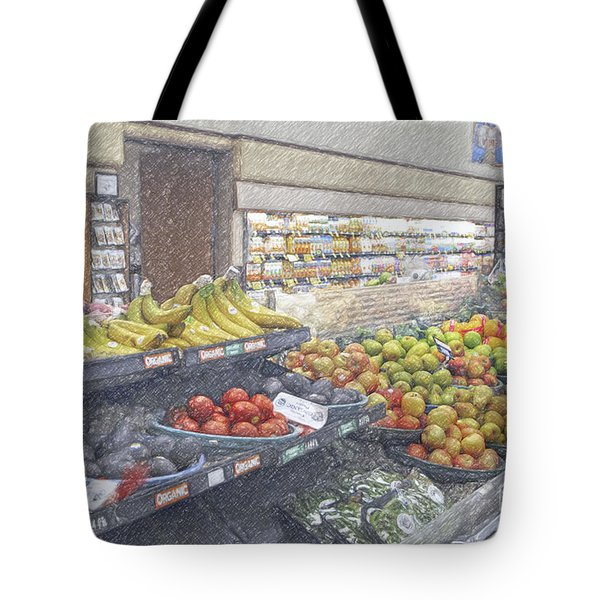 Tote Bag featuring the photograph Supermarket Produce Section by David Zanzinger