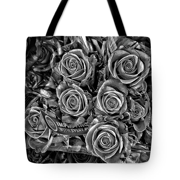 Supermarket Roses Tote Bag by Walt Foegelle