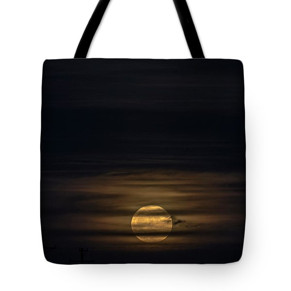 Supermoon Dec3 2017 Tote Bag