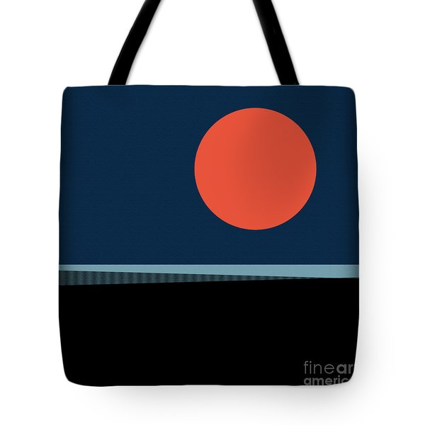 Tote Bag featuring the digital art Supermoon Over The Sea by Klara Acel