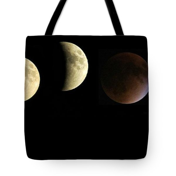 Supermoon Total Lunar Eclipse Tote Bag