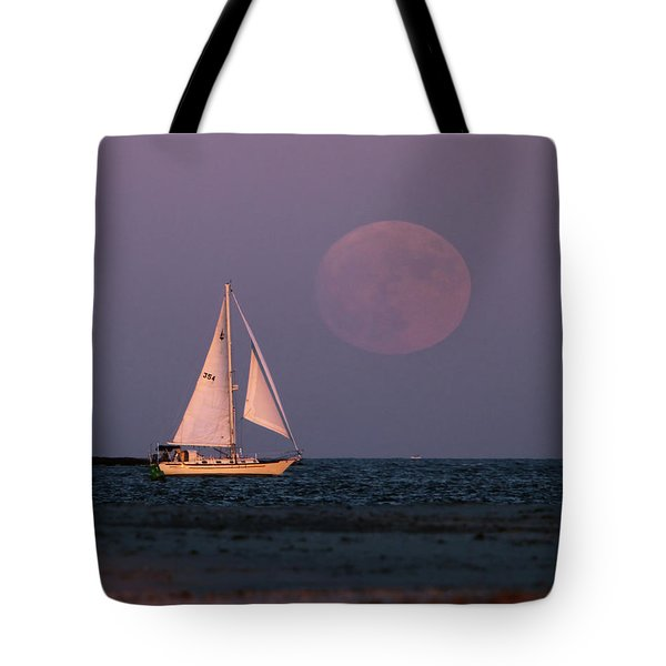 Supermoon Two Tote Bag