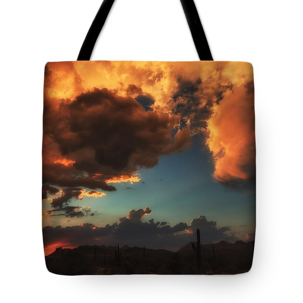 Troubled Sky Tote Bag