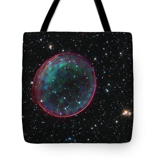 Supernova Bubble Resembles Holiday Ornament Tote Bag