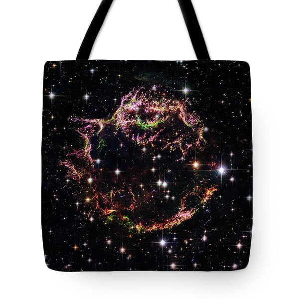 Tote Bag featuring the photograph Supernova Remnant Cassiopeia A by Marco Oliveira