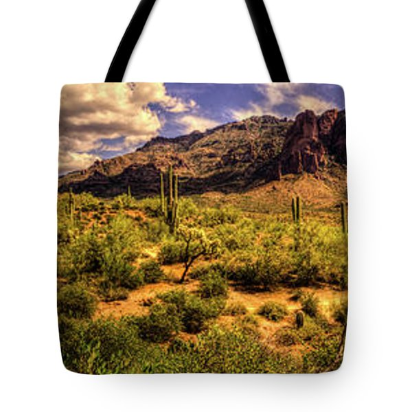 Superstition Mountain And Wilderness Tote Bag