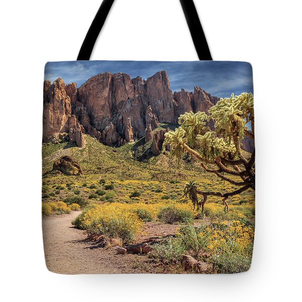 Superstition Mountain Cholla Tote Bag