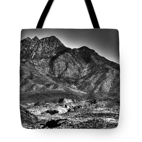Four Peaks From Lost Dutchman State Park Tote Bag