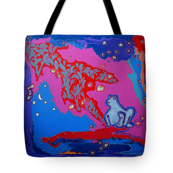 Supper On The Patio  Tote Bag