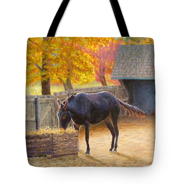 Tote Bag featuring the painting Supper Time by Joe Bergholm
