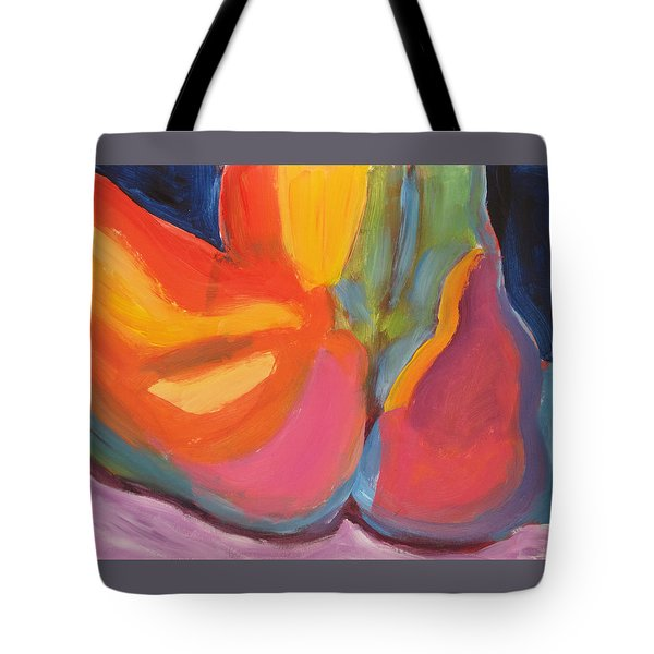 Tote Bag featuring the painting Supple Buttocks by Shungaboy X