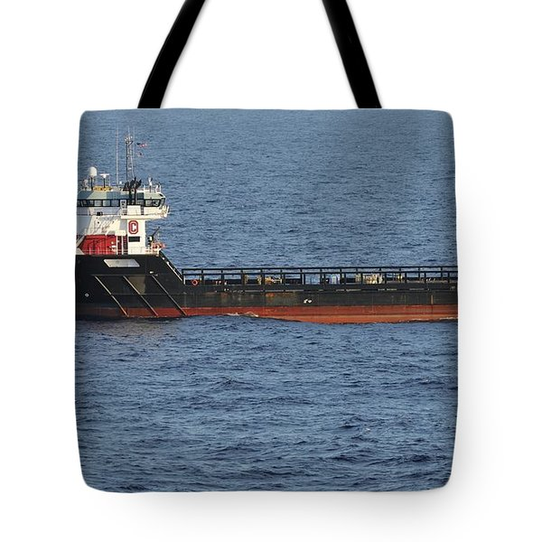 Tote Bag featuring the photograph Supply Vessel Claire Candies by Bradford Martin