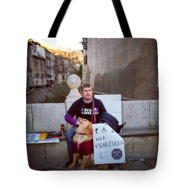 Support For Venezuela From Spain Tote Bag