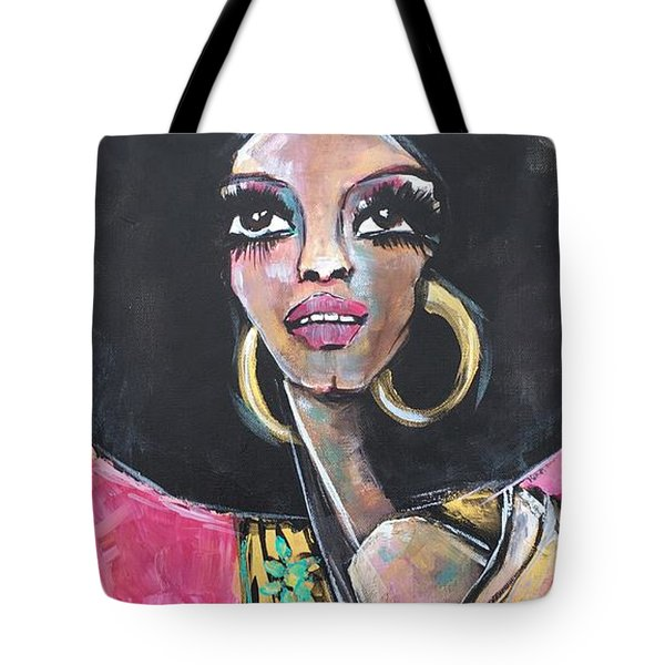 Tote Bag featuring the painting Supreme Love For Diana Ross by Laurie Maves ART