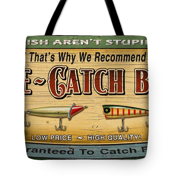 Sure Catch Baits Sign Tote Bag