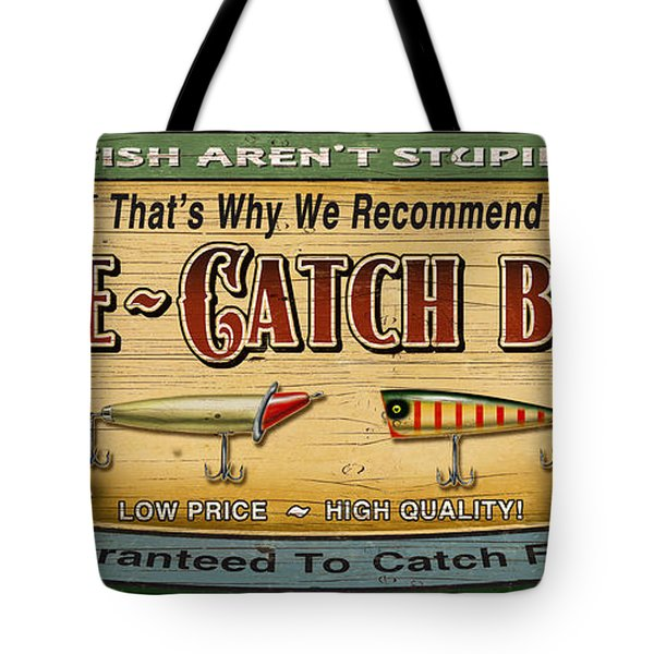 Sure Catch Baits Sign Tote Bag by Jon Q Wright