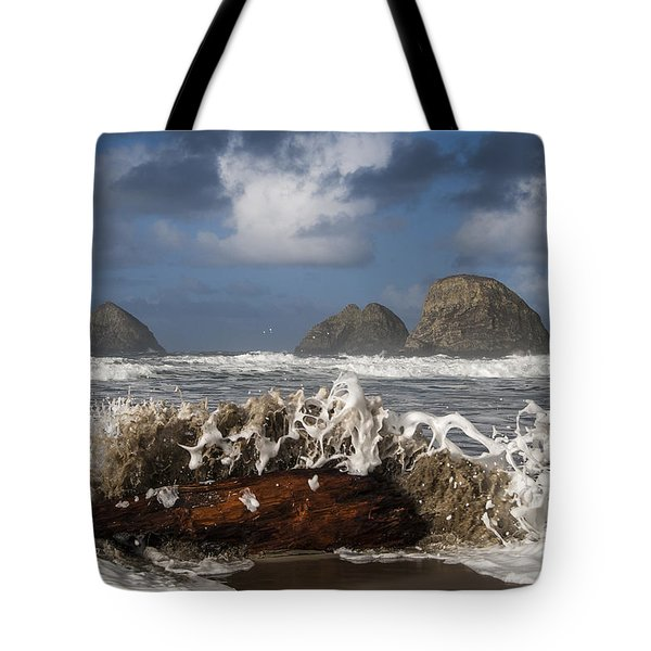 Surf And Three Arch Rocks Tote Bag