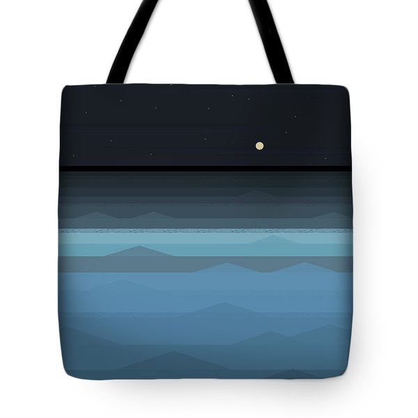 Surf At Night Tote Bag