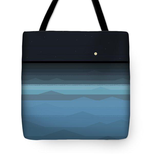 Surf At Night Tote Bag