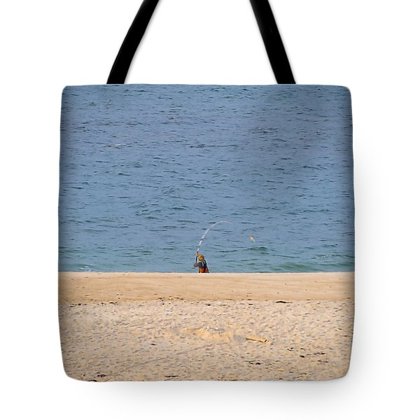 Tote Bag featuring the photograph Surf Caster by  Newwwman