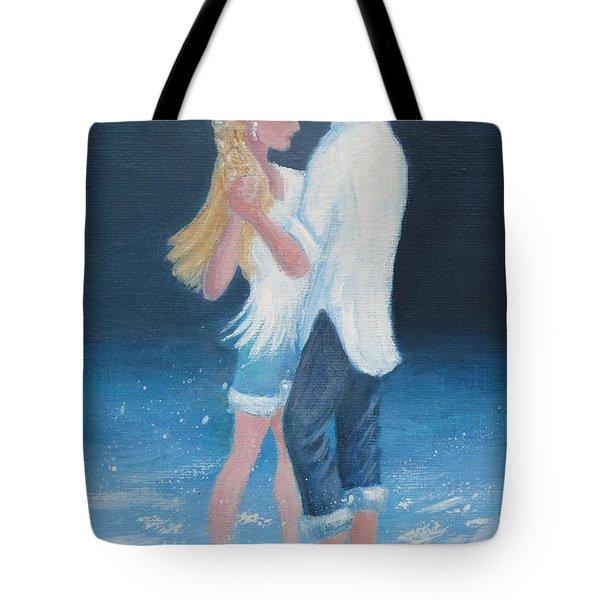 Surf Dancing Tote Bag