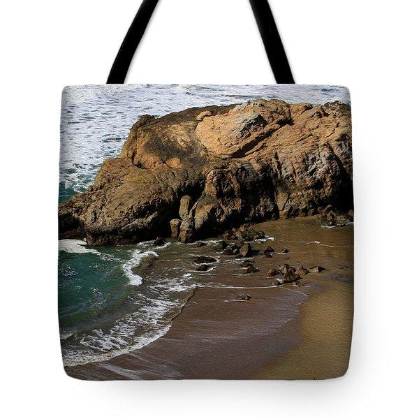 Surf Fishing At Ocean Beach Tote Bag