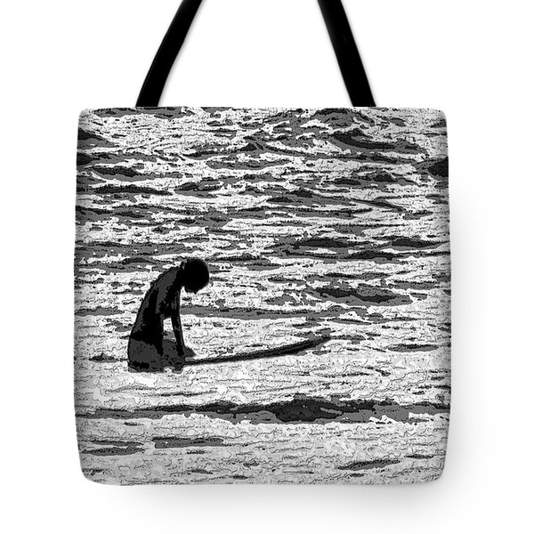 Tote Bag featuring the digital art Surf Meditation by Suzette Kallen