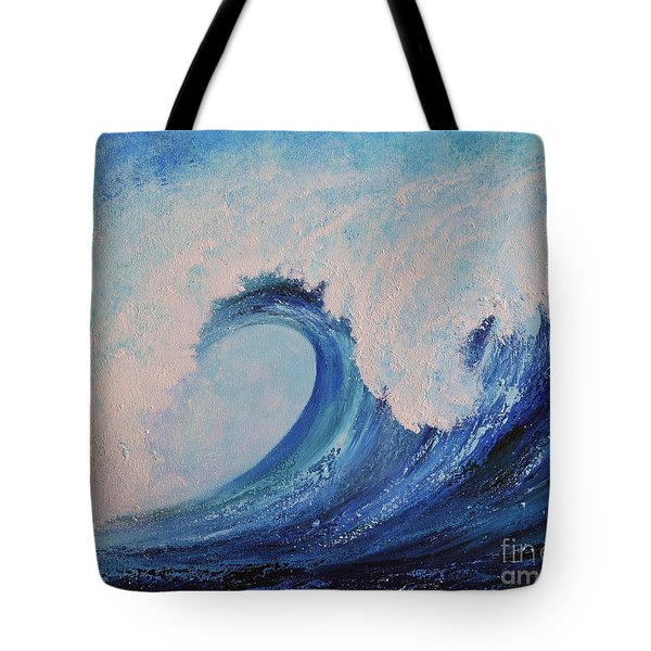 Surf No.2 Tote Bag by Teresa Wegrzyn