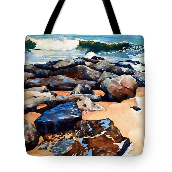 Surf On The Jetty Tote Bag
