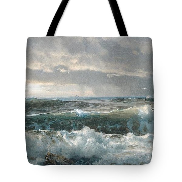 Surf On The Rocks Tote Bag