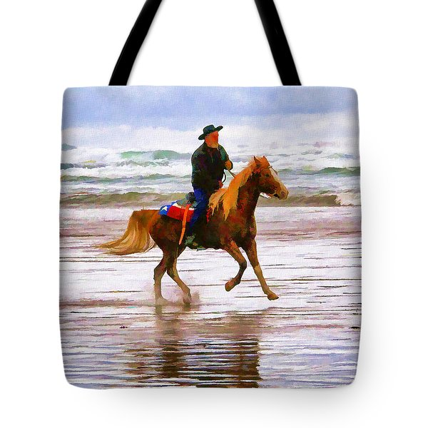 Tote Bag featuring the photograph Surf Rider by Wendy McKennon