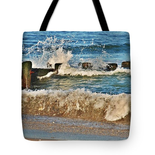 Surf Stir - Jersey Shore Tote Bag by Angie Tirado