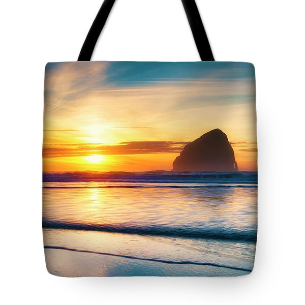 Surf Sunset Tote Bag