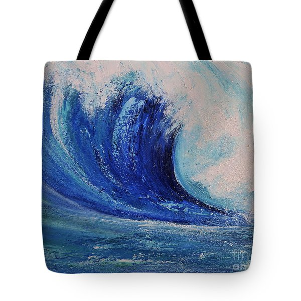 Surf Tote Bag by Teresa Wegrzyn