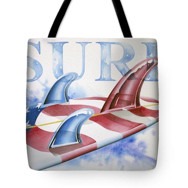 Surf Usa Tote Bag