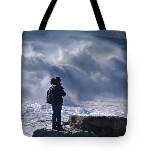 Surf Watcher Tote Bag