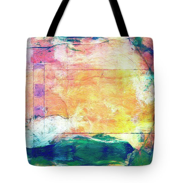 Tote Bag featuring the painting Surface Vector by Dominic Piperata