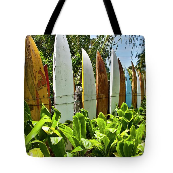 Surfboard Fence Iv - The Amazing Race Tote Bag