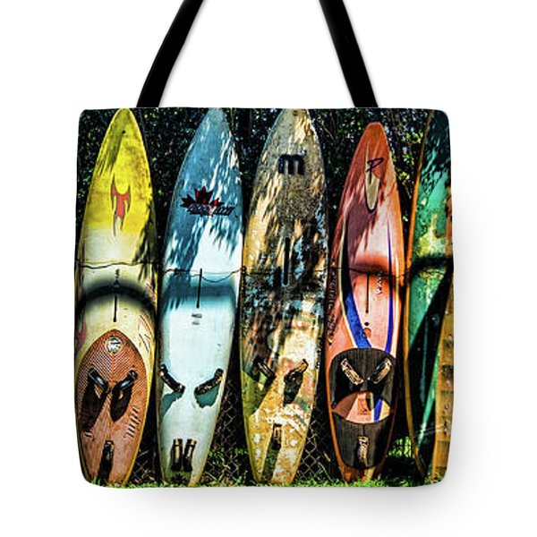 Surfboard Fence Maui Hawaii Tote Bag